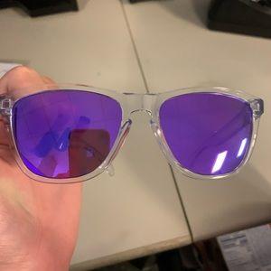Oakley Frogskins (unisex) polarized purple clear